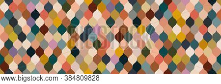 Natural Earth Tone Color Net Grid Seamless Pattern Background, Geometric Luxury Texture, Minimal Des