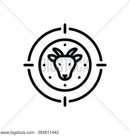 Black Line Icon For Hunter Trapper Stalker Predator Fowler Deer-hunter Bullseye Target Hunting