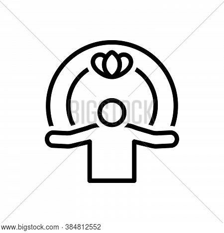 Black Line Icon For Spiritual Metaphysical Uncanny Supernatural Superhuman Sacred Religious