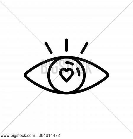 Black Line Icon For Attractive Tempting Seductive Enticing Eye See Ravishing Fabulous Beautiful Char