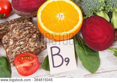 Healthy Products As Source Folic Acid, Minerals, Vitamin B9 And Fiber, Nutritious Eating Concept