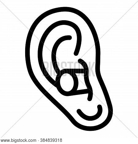 Ear Plugs Quiet Icon. Outline Ear Plugs Quiet Vector Icon For Web Design Isolated On White Backgroun