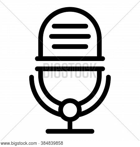 Podcast Blogging Icon. Outline Podcast Blogging Vector Icon For Web Design Isolated On White Backgro