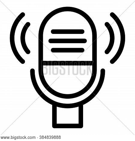 Podcast Guest Icon. Outline Podcast Guest Vector Icon For Web Design Isolated On White Background