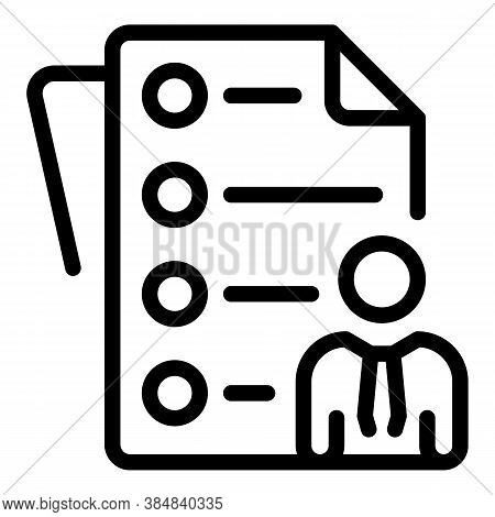 Outsource Business Papers Icon. Outline Outsource Business Papers Vector Icon For Web Design Isolate