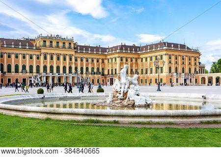 Schonbrunn Palace And Gardens, Vienna, Austria - April 2018