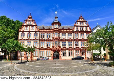 Mainz, Germany - July 2020: The Gutenberg Museum Is One Of The Oldest Museums Of Printing In The Wor