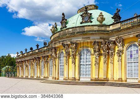Sanssouci Palace In Potsdam, Germany - May 2019