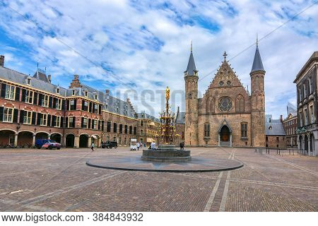 Hall Of The Knights (ridderzaal) In Courtyard Of Binnenhof (dutch Parliament), The Hague, Netherland