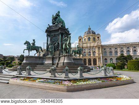 Maria Theresa Square (maria-theresien-platz) In Vienna, Austria - April 2019