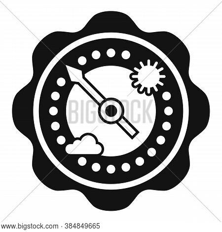 Climate Barometer Icon. Simple Illustration Of Climate Barometer Vector Icon For Web Design Isolated