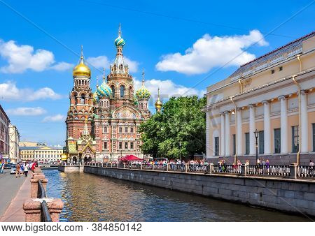 Church Of The Savior On Spilled Blood, Saint Petersburg, Russia - July 2017