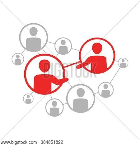 Social Network Scheme - Vector Illustration Of People Community Which Contains People Icons Or Avata