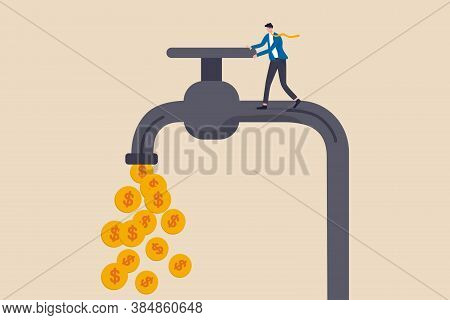 Cash Flow, Making Profit From Business Or Earning From Stock Investment Concept, Businessman Busines