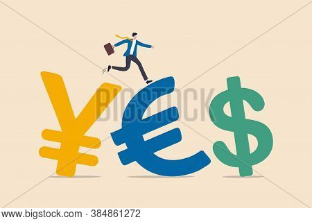 Foreign Exchange Trading Between Currency Around The Word Or Investment Fund Flow Concept, Success B