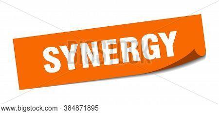 Synergy Sticker. Synergy Square Sign. Orange Peeler