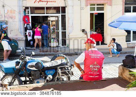 Havana, Cuba - December 11, 2016: Street Scene In Old Havana