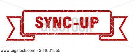 Sync-up Ribbon. Sync-up Grunge Band Sign. Banner