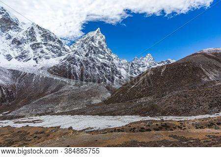 View On The Way To Everest Base Camp. Sagarmatha National Park, Nepal