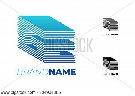 Initial Ge Abstract 3d Striped Letter For Progress Technology Business Identity Logotype Concept. G