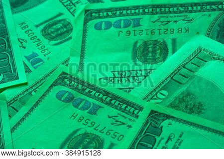 Abstract Money Cash Background. Money Texture. Banking And Financial Concept.