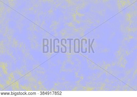 Ceramic Background With Paint Brush Strokes Pattern. Pale Violet And Yellow Patchy Background