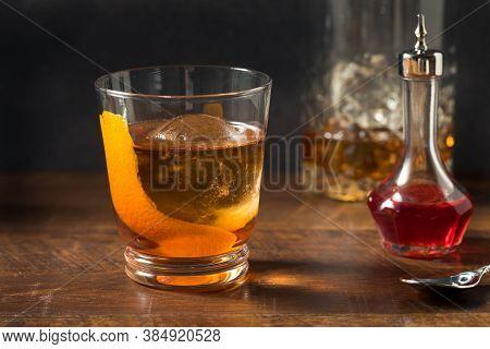 Boozy Refreshing Rye Whiskey Vieux Carre Cocktail