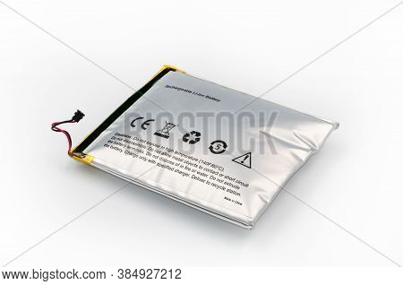 Lithium-ion Battery From Electronic Device, Which Has Expanded. Deep Focus