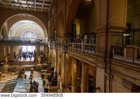 Cairo, Egypt - December 8, 2018: Interior Of Museum Of Egyptian Antiquities, Known Commonly As The E