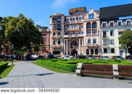 Batumi, Adjara, Georgia - May 3, 2018: Europe Square In Batumi. Cityscape With Modern Architecture I