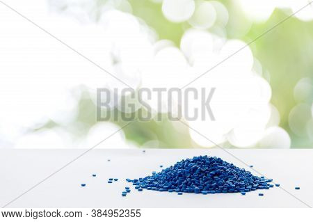 Blue Plastic Grain, Plastic Polymer Granules,hand Hold Polymer Pellets, Raw Materials For Making Wat