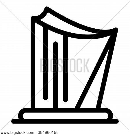 Music Harp Icon. Outline Music Harp Vector Icon For Web Design Isolated On White Background