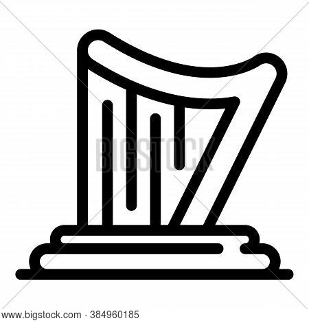Irish Harp Icon. Outline Irish Harp Vector Icon For Web Design Isolated On White Background