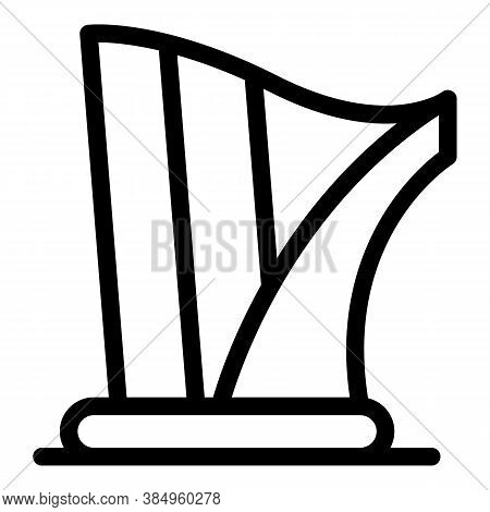 Art Harp Icon. Outline Art Harp Vector Icon For Web Design Isolated On White Background