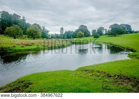 River Bela At Dallam Park, Milnthorpe, Cumbria, England