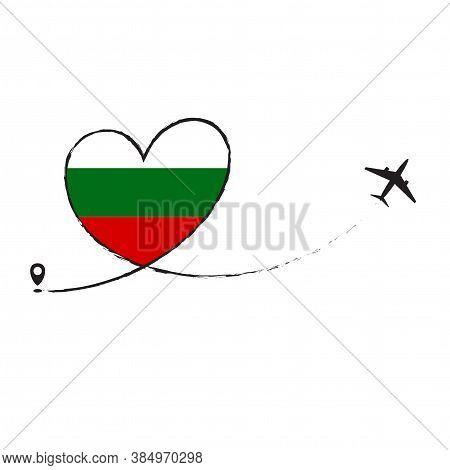 Flag Of Bulgaria Love Romantic Travel Plane Airplane Airplane Airplane Flight Fly Jet Airline Line V