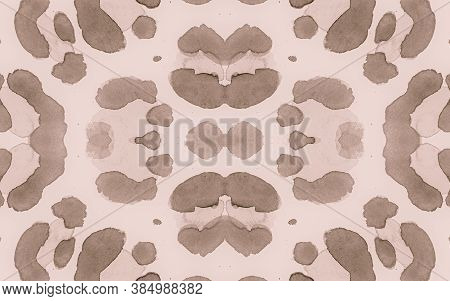 Seamless Leopard Rapport. Watercolor Cheetah Fur Pattern. Brown Spotted Tropical Wallpaper. Retro Ma