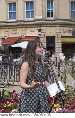 Bristol, Uk - July 30, 2016: Amelia Womack, Deputy Leader Of The Green Party Of England And Wales, A
