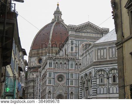 Florence, Italy - Circa November 2019: Florence Cathedral Aka Duomo Di Firenze Or Basilica Di Santa