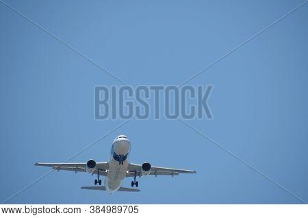 Lisbon, Portugal - Circa June 2015: Sata Airbus A310 Landing