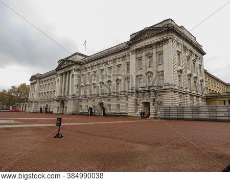 London, Uk - Circa November 2019: Buckingham Palace Royal Palace