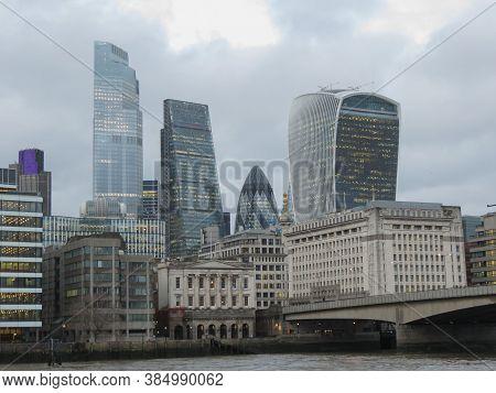 London, Uk - Circa November 2019: View Of The City Of London