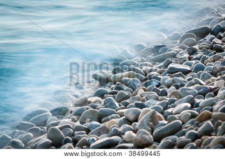 Pebble Stones By The Sea