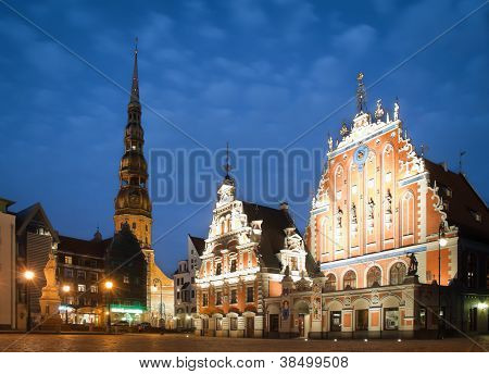 Central Square Of Riga, Latvia.