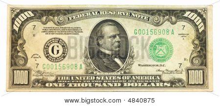 Old One Thousand Dollar Bill