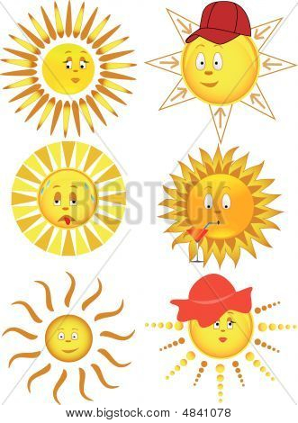 Collection Of The Sun. Vector Illustration