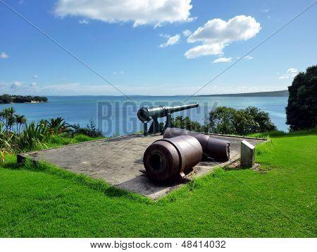 Historic gun at North Head in Devonport