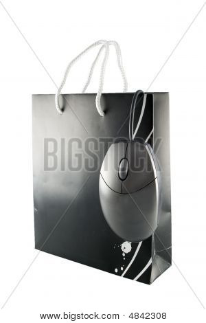 Shopping Bag And Mouse