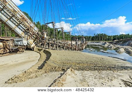 Extraction Of Quartz Sand Walking Excavators.