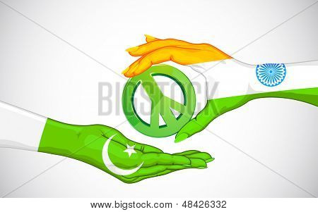 illustration of peace between India and Pakistan